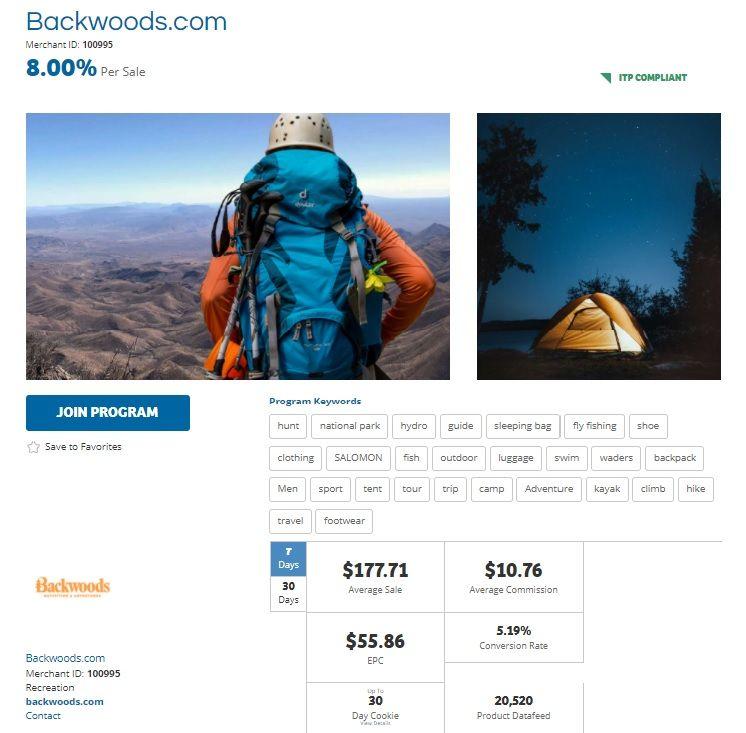 Backwoods Affiliate Program
