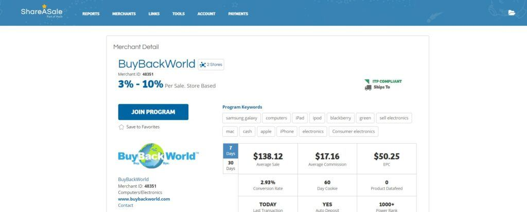 BuyBackWorld Affiliate Program