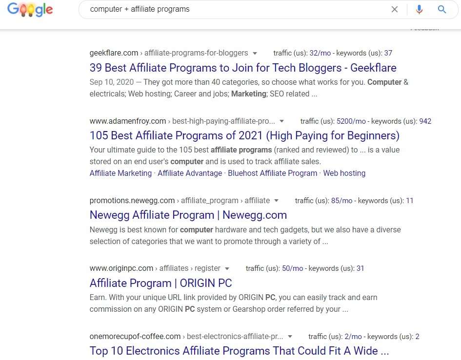 Computer Affiliate Programs - Google Search