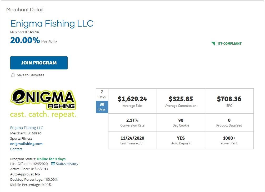 Enigma Fishing Affiliate Program