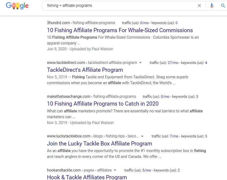 Fishing Affiliate Programs - Google Search