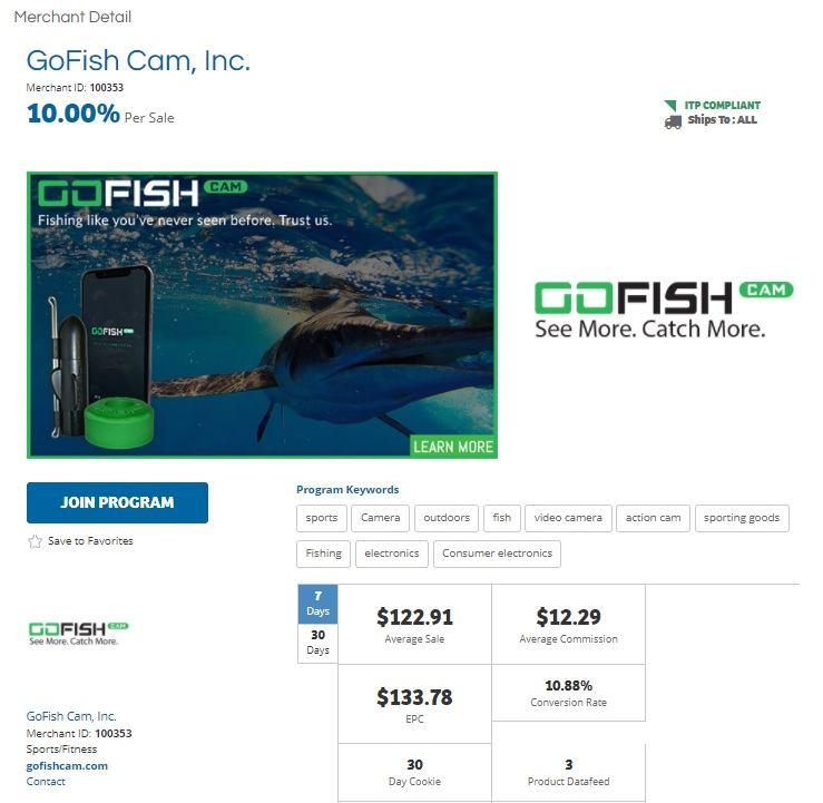 GoFish Cam Affiliate Program
