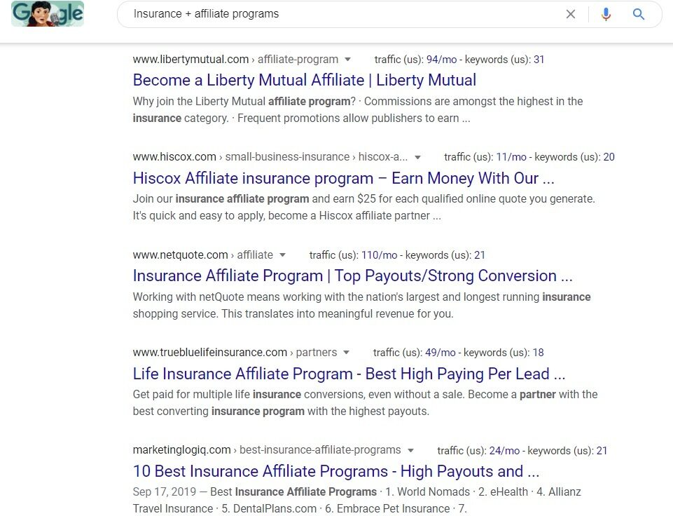 Insurance Affiliate Programs - Google Search