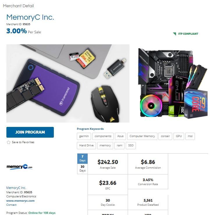 MemoryC Affiliate Program