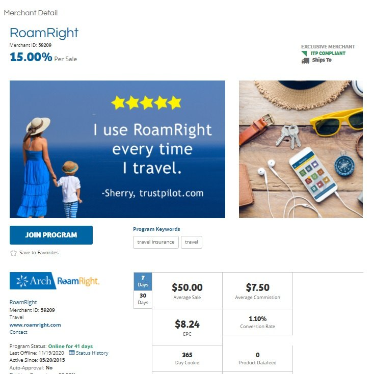 Roam Right Affiliate Program