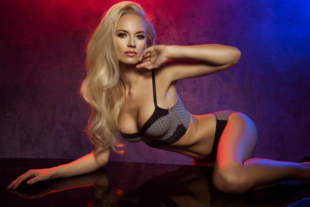 Sensual Beautiful Blonde in Sexy Lingerie