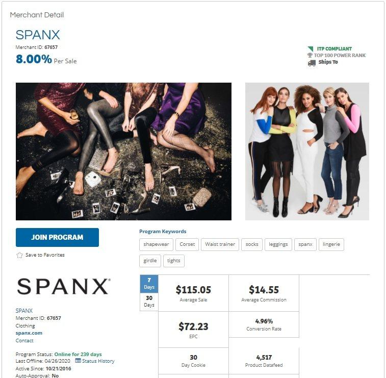 Spanx Affiliate Program