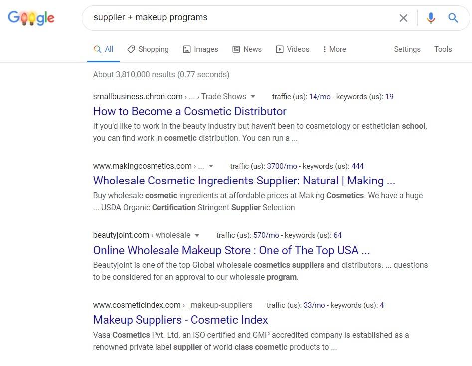 Supplier Makeup Programs