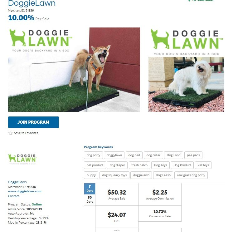 DoggieLawn Affiliate Program