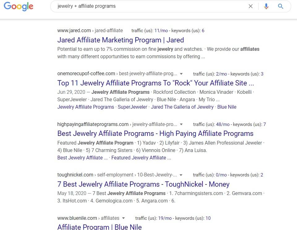 Jewelry Affiliate Programs - Google Search