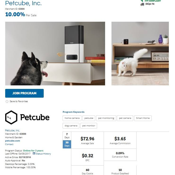 Petcube Affiliate Program