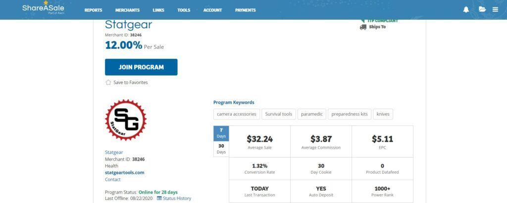 StatGear Affiliate Program