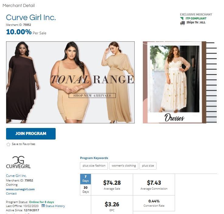 Curve Girl Inc. Affiliate Program