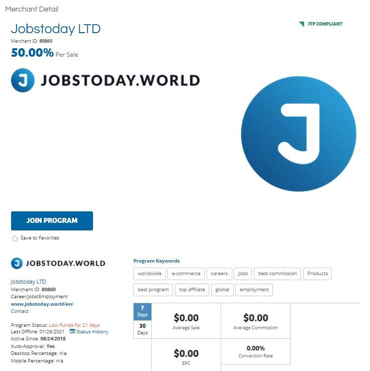 JobsToday Affiliate Program