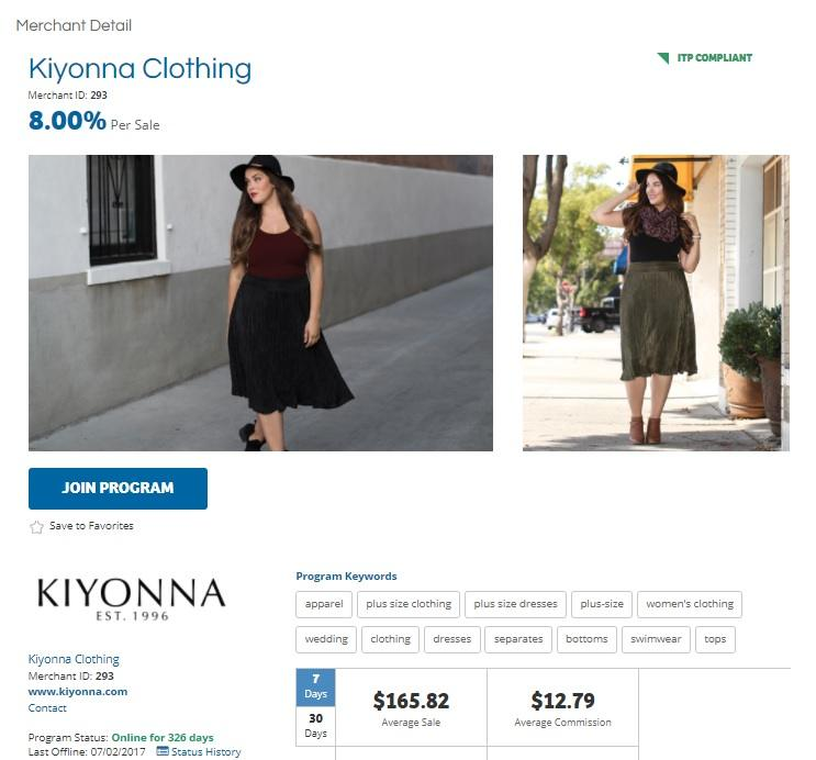 Kiyonna Clothing Affiliate Program