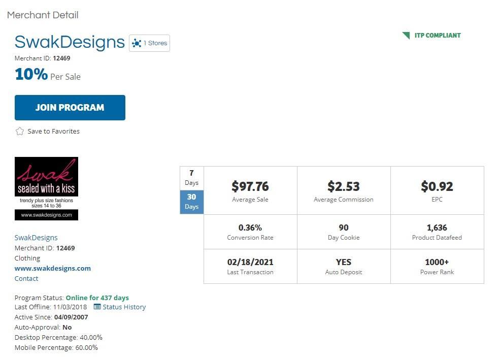 Swak Designs Affiliate Program