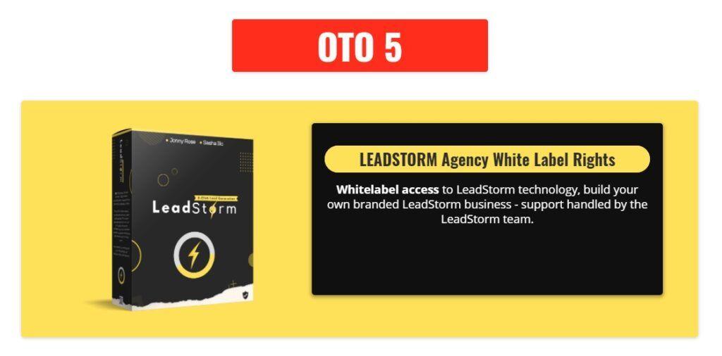 Leadstorm OTO 5
