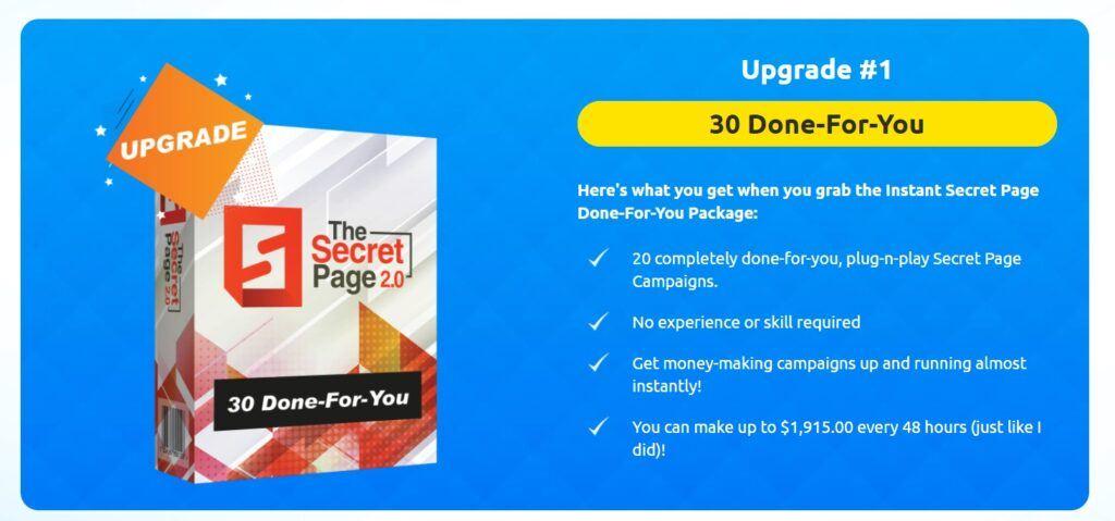 Secret Page Upgrade 1